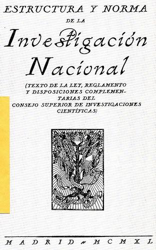 Estructura y Norma de la Investigación Nacional