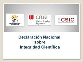 Declaración Nacional sobre Integridad Científica