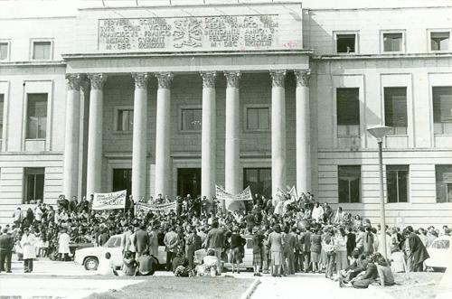 Manifestación en la sede central del CSIC
